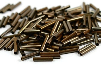100  Pcs. Antique Copper 2x10 mm Tube Spacers Findings