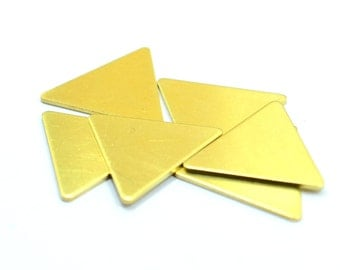 5 pcs. Raw Brass 25x25x25 mm Triangle Geometric Stamping Blanks 1 mm Thick 18 gauge