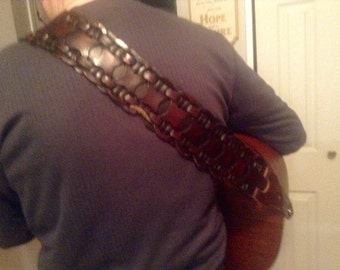 Gorgeous Repurposed guitar strap one of a kind!