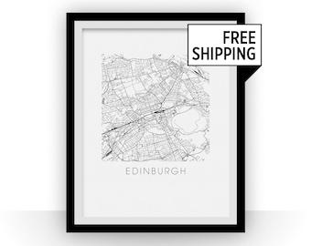 Edinburgh Map Print
