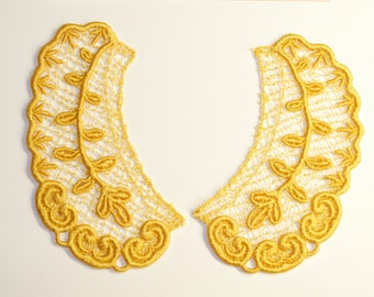 Lace Collar in GOLD for 18 inch dolls such as American Girl #CR23