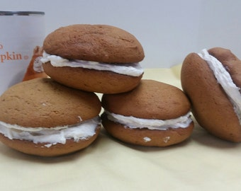 Homemade, Amish Pumpkin, cupcake, Whoopie Pies, Baked goods, fall treats, gourmet,pumpkin gobs 1 doz.