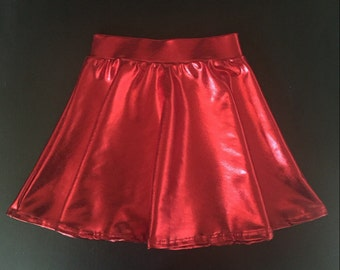 Dreaming Kids Red Metallic Skirt