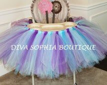 High Chair Tutu (Any Color) - Tutu High Chair - Birthday Party