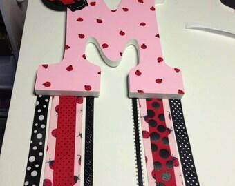 Custom Made Barrette Holder: Ladybug