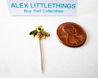 Vintage Bumble Bee Tie Pin Stick Pin Costume Jewelry
