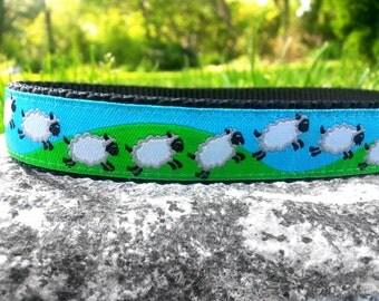 Sheep 3/4 Inch Width Dog Collar