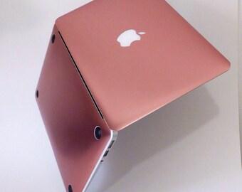 Platinum Edition Rose Gold Chrome Hybrid Hard Case for Apple Macbook Air 11 , 13 & Macbook Pro 13 Retina, Macbook Pro 15 Retina
