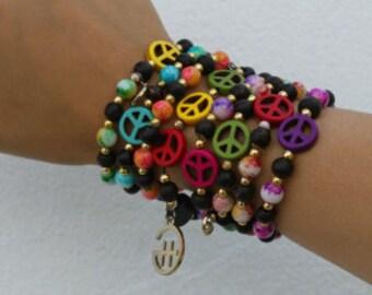 Peace Baby Bracelet Stack