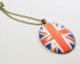Necklace England United Kingdom Union Jack