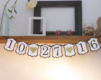 Save the Date Banner, Wedding Date Banner, Engagement Prop, Engagement Party, Bridal Shower Banner