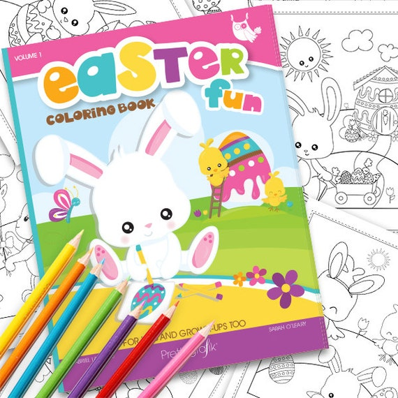 80% OFF SALE Easter Coloring book, Printable colouring book, easter colouring pages, easter coloring book, instant download PDF - CB100