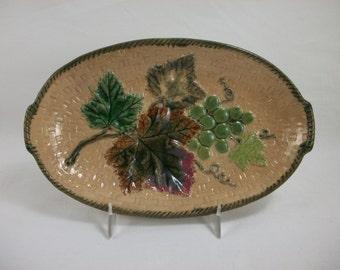 BLOWOUT SALE Chesapeake Pottery Majolica Dish, 1880s
