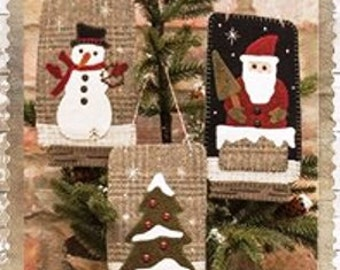 Wool Applique - Christmas Ball Jar Ornaments - Choose Pattern Only or Pattern with Wool Kit