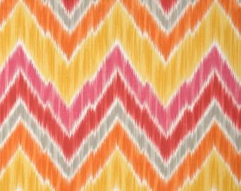 Tribal Find Tangerine Indoor / Outdoor - One Yard - P Kaufmann Fabric