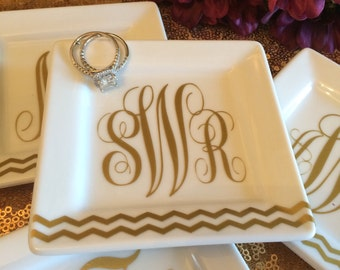 Flat Monogram Dish