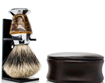 Personalized Shaving Kit - Personalized Shaving Set - Mens shave kit - BEST badger shaving brush - mens christmas gifts - mens gifts