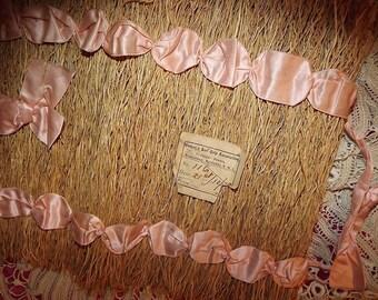 ANTIQUE 1912 Vintage Edwardian Boudoir LINGERIE Hosiery Ribbon Straw CASE