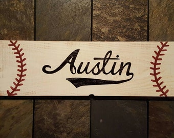 Baseball Name Sign Personalized