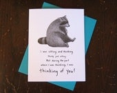 Raccoon notecard