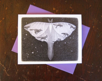 Luna Moth Notecard