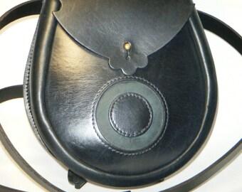 Handmade Black Moon Leather Earn Sporran