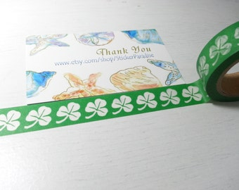 Green Leaf Washi / Masking Tape - 10M