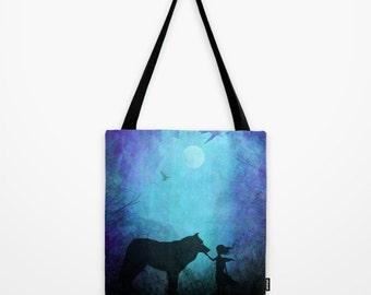 Canvas Tote Bag | Wolf Tote Bag | Hippie tote bag | Grocery Tote Bag | Hipster Tote Bag | Adventure Tote Bag | Durable Tote Bag | Cute Tote