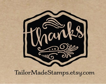 Thank You Custom Rubber Stamp,  Logo Stamp for Business, Box Stamp, Packaging Stamp