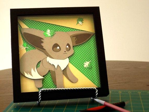 Pokemon Eevee Shadow Box
