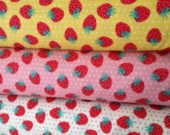 Fq Bundle: 3 Fq's The Shabby Strawberry' by Emily Hayes for PennyRose Fabrics