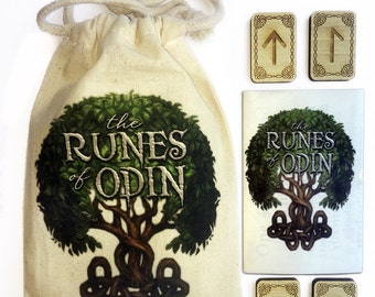 Wood Runes - Viking Norse Pagan Runes - Magic Divination Oracle