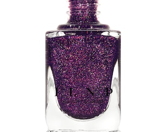 BFF's - Concord Grape Holographic Sheer Jelly Nail Polish