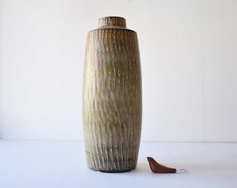 """51cm / 20"""" Gunnar Nylund for Rörstrand - RUBUS - floor vase - Scandinavian midcentury pottery"""