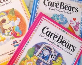 1980s Care Bear Books - Parker Brothers - 3 included