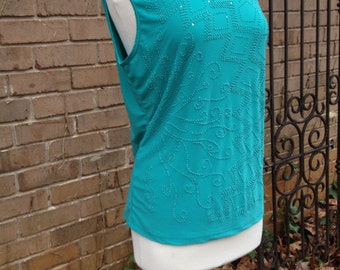 Awesome Emerald Bead Embellished Blouse