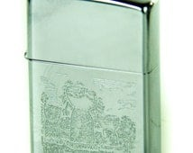 Collectible Zippo Windproof Military Lighter Vietnam Era - with Saipan, M.I. logo on the side - Date code 1969