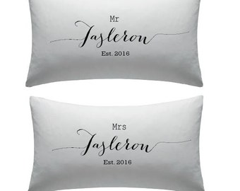 Set of Personalised Pillow Covers