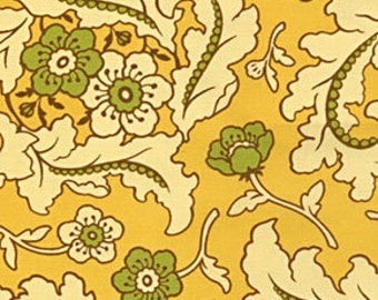 Freshcut Floral Finery in Gold by Heather Bailey for Free Spirit Fabrics D1583-545- Half Yard or By the Yard