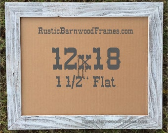 12x18 1 12 white flat rustic barn wood weathered reclaimed primitive photo picture - Nautical Picture Frames