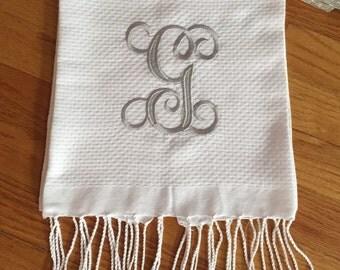 Monogrammed luxurious hand towel