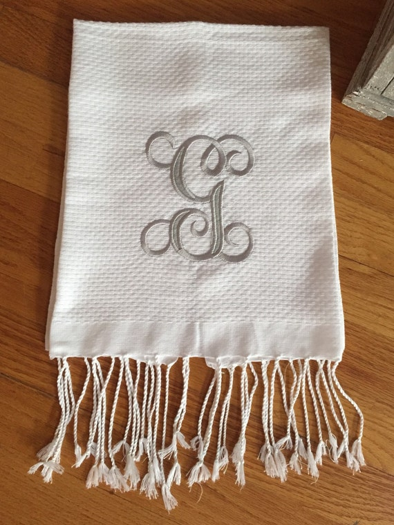 Monogrammed luxurious hand towel