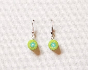 Kiwi fruit earrings