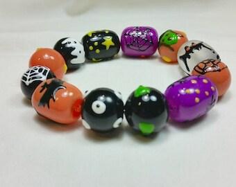 Batty Witch Halloween Bracelet