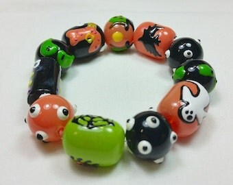 Stary Eyes Halloween Bracelet