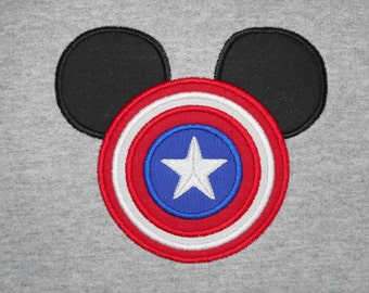 Captain USA Mister Mouse Shirt Personalized - Super Hero Magical Family Vacation