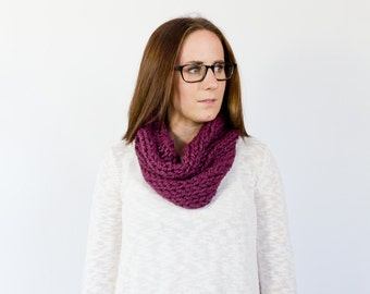 loose knit single wrap cowl    the GARFIELD    shown in fig