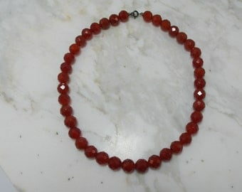 Magnificent carnelian beaded necklace