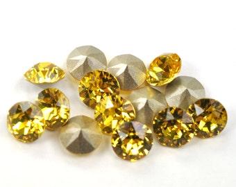 Swarovski 39ss 1088 Light Topaz Xirius Chatons 8mm Crystal 12 Pieces