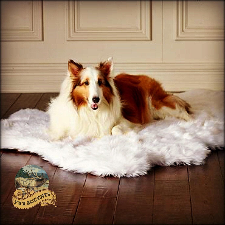Shag Carpet Pet Bed Mat Soft Shaggy Faux Fur By FurAccents